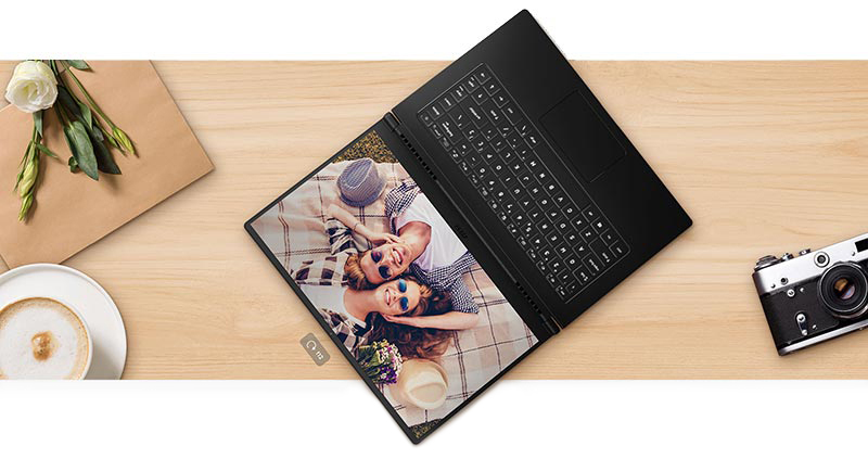 180 Degree Fully Opened Notebook Lay on the Desk.