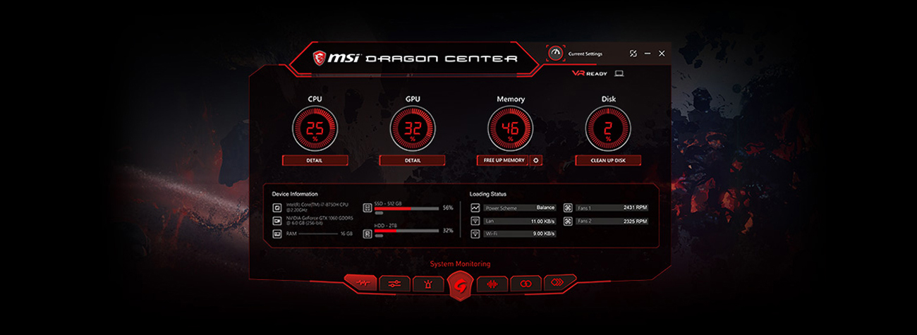 customization and freeing system memories to prioritize in-game performance
