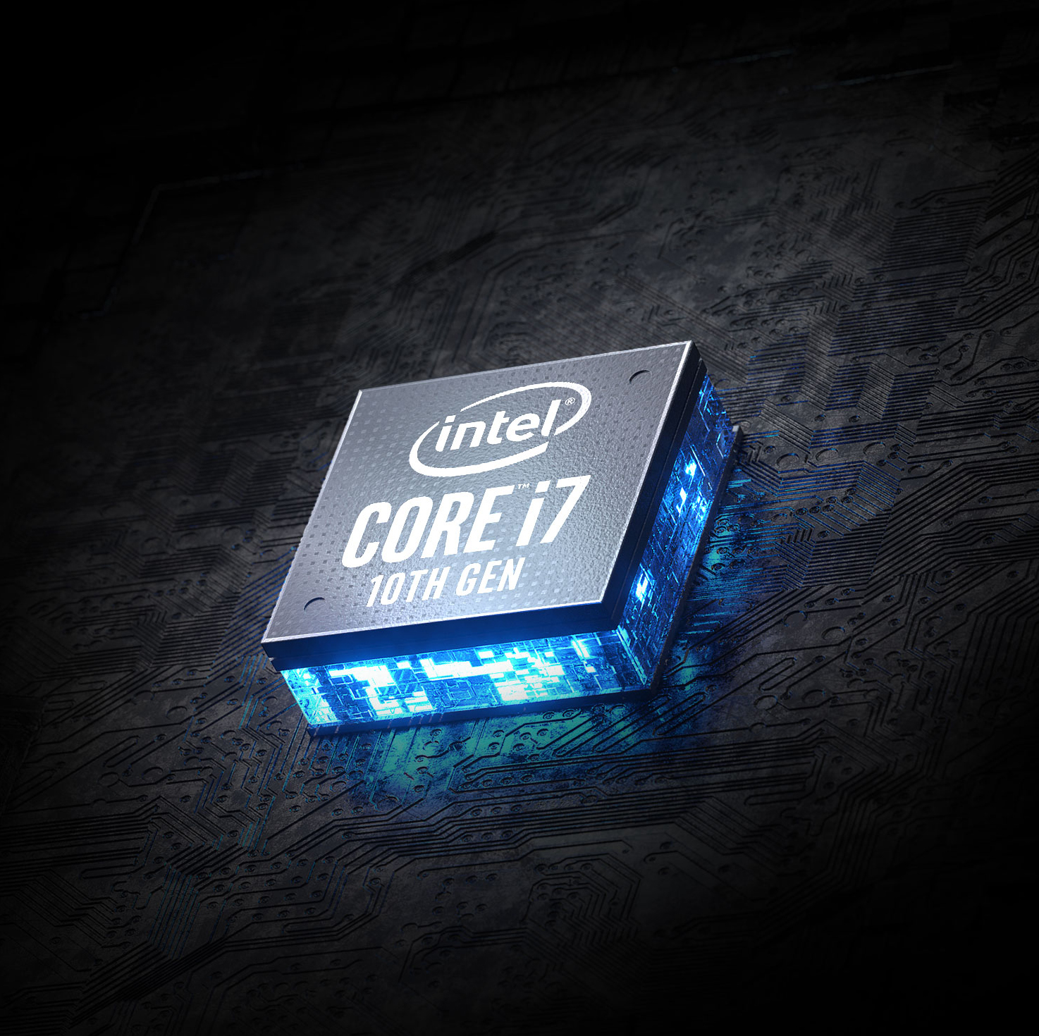 Intel Core i7 10th Gen in the center.