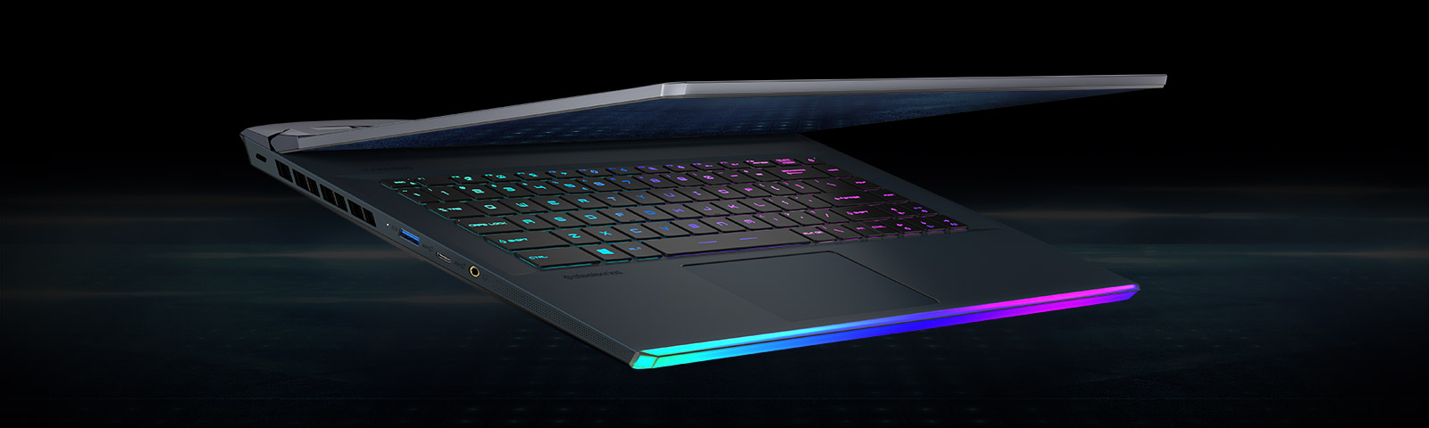 The angle to show RGB backlit keyboard