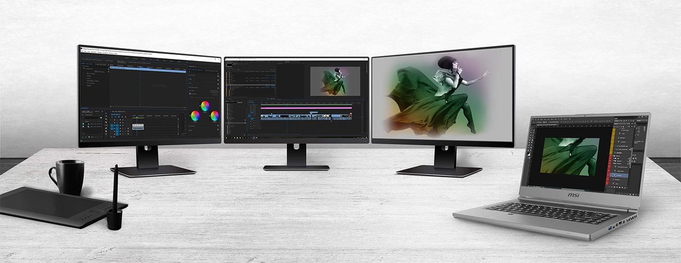 P65 Creator can expand up to 3 external displays.