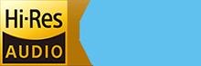 Logo - HiRes Audio and Nahimic 3.