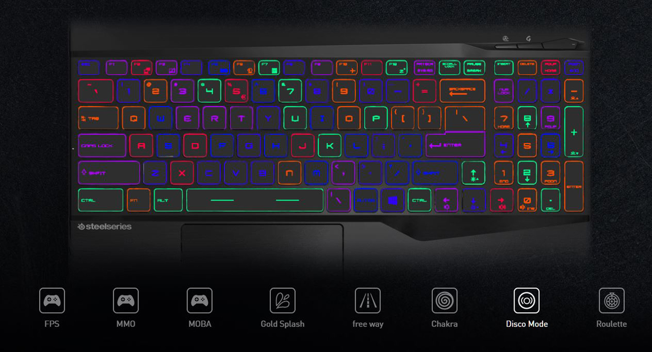 PER-KEY RGB GAMING KEYBOARD BY STEELSERIES TAILOR YOUR KEYBOARD