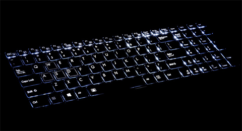 Electroluminescence Backlit Keyboard