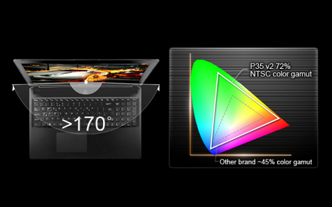 Full HD Display with Wide Color Gamut