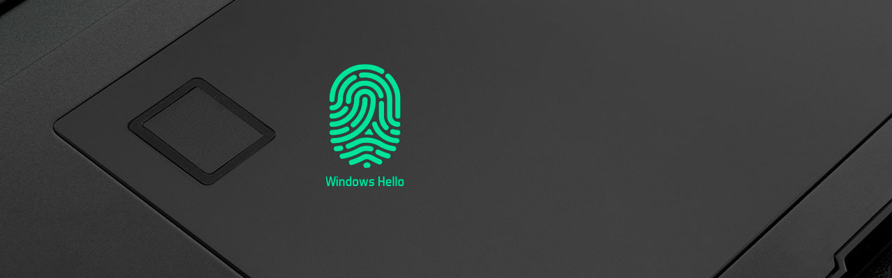 a fingerprint icon