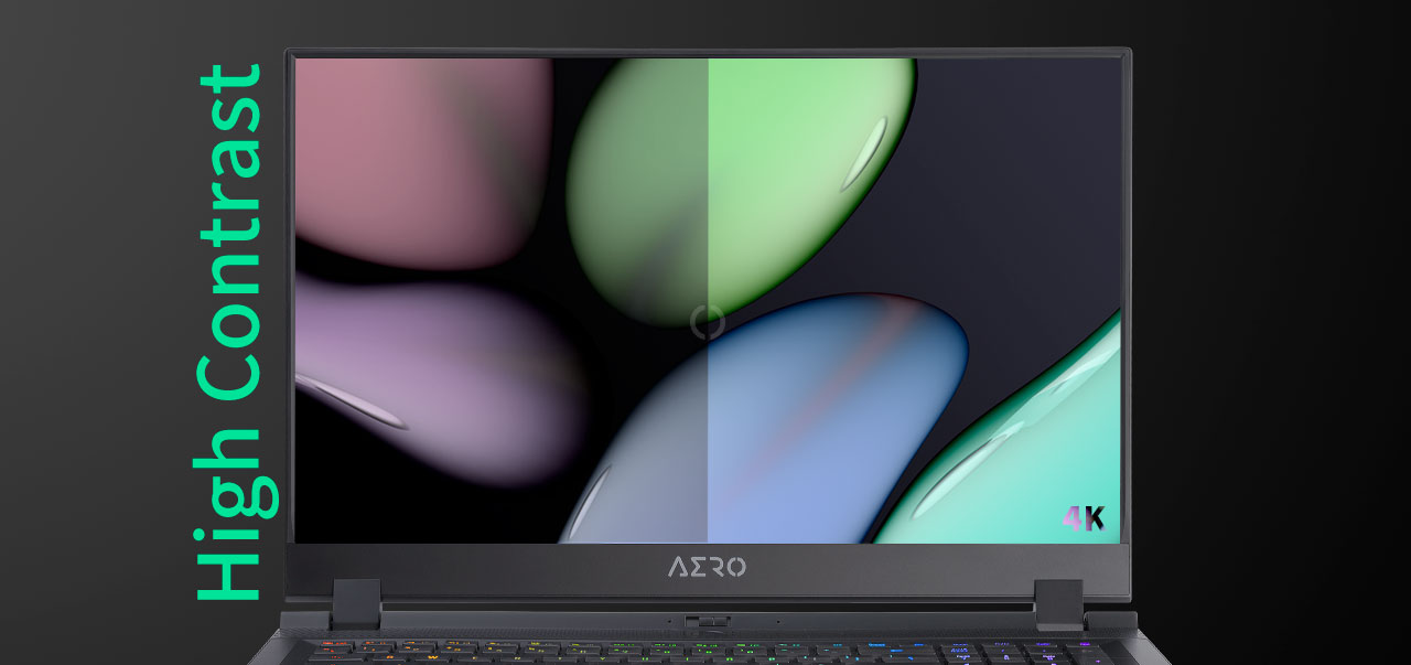 one image splited into two, showing different effect between 4K and others