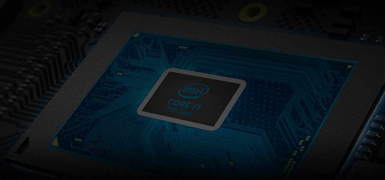the core i7 cpu of the laptop