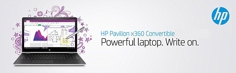 HP Pavilion x360 15-b80wm Intel Core i5 7th Gen 7200U (2 50 GHz) 8 GB  Memory 1 TB HDD Intel HD Graphics 620 15 6