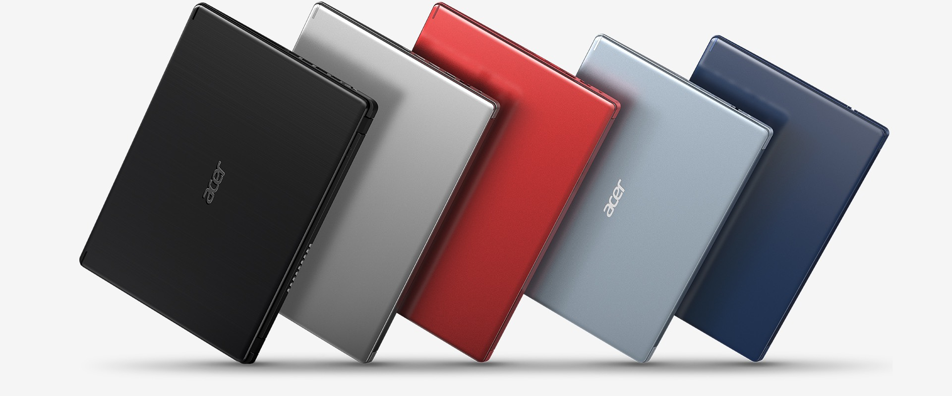 You can choose different colors of Aspire 5 notebooks - black, silver, red, gray and blue.