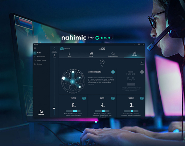 NAHIMIC surround sound, device compatibility and sound tracker banner