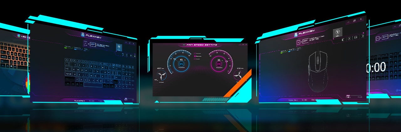 AORUS GAMING CENTER's UI