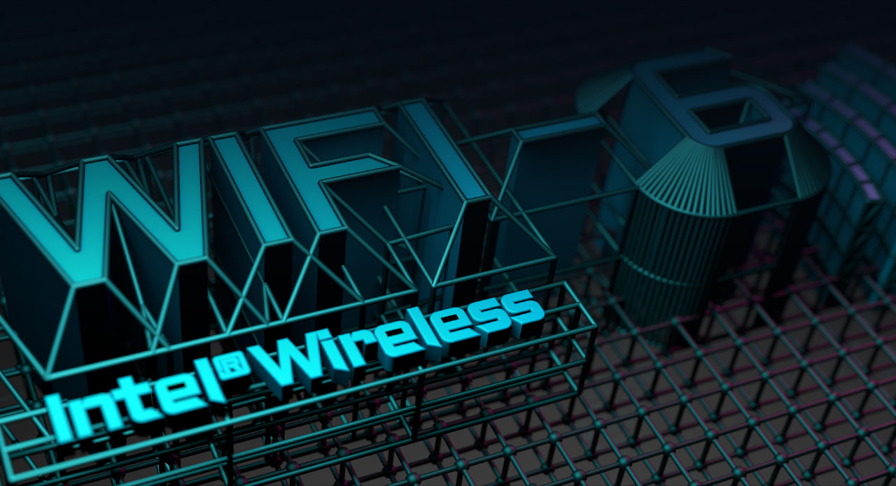 Wi-Fi 6 background.