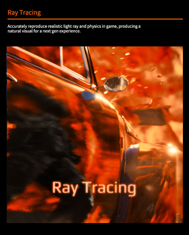Ray Tracing technology dispay.