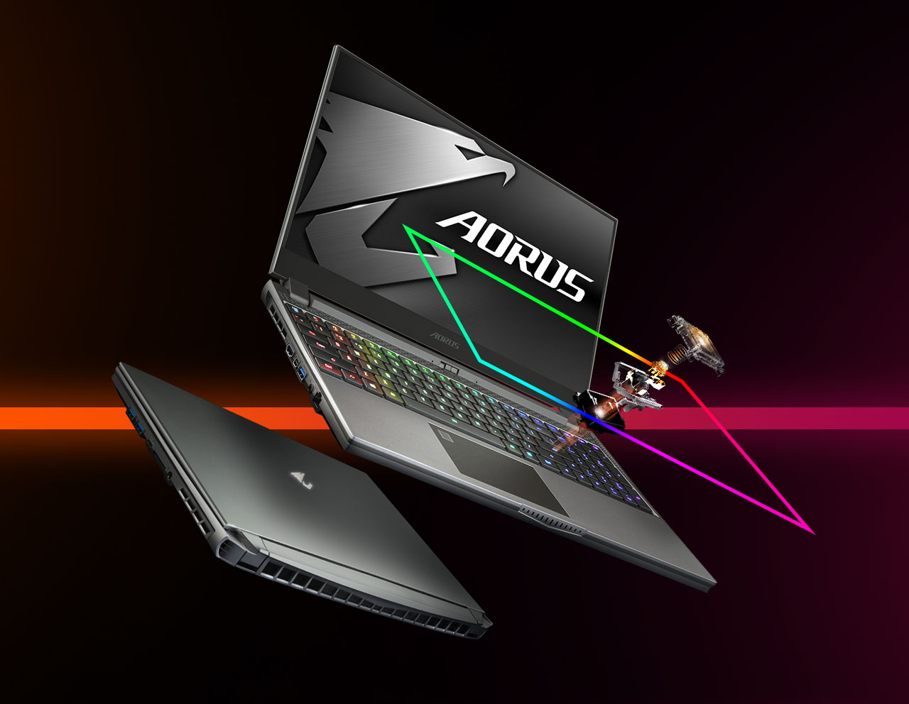 The widely opened Aorus 15G