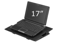 Supports up to 17' laptops