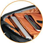 Wide, Ergonomic Shoulder Straps with Zippered Stash Pocket