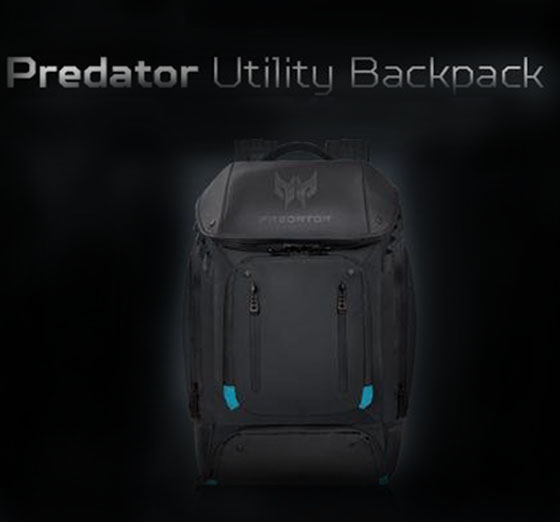 """97f15b761ad55 Pack up your gear and be ready for battle! The Acer Predator Utility  Backpack provides dedicated compartments to stow your 17"""" Predator gaming  laptop"""