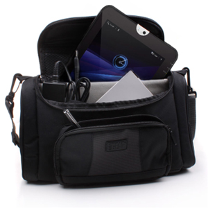 USA GEAR S7 Professional On the Go Tablet Carrying Bag w/ Shoulder Strap , Adjustable Interior & Storage Pockets