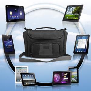 USA GEAR S7 Professional On the Go Tablet Carrying Bag w/ Shoulder Strap , Adjustable Interior & Storage Pockets