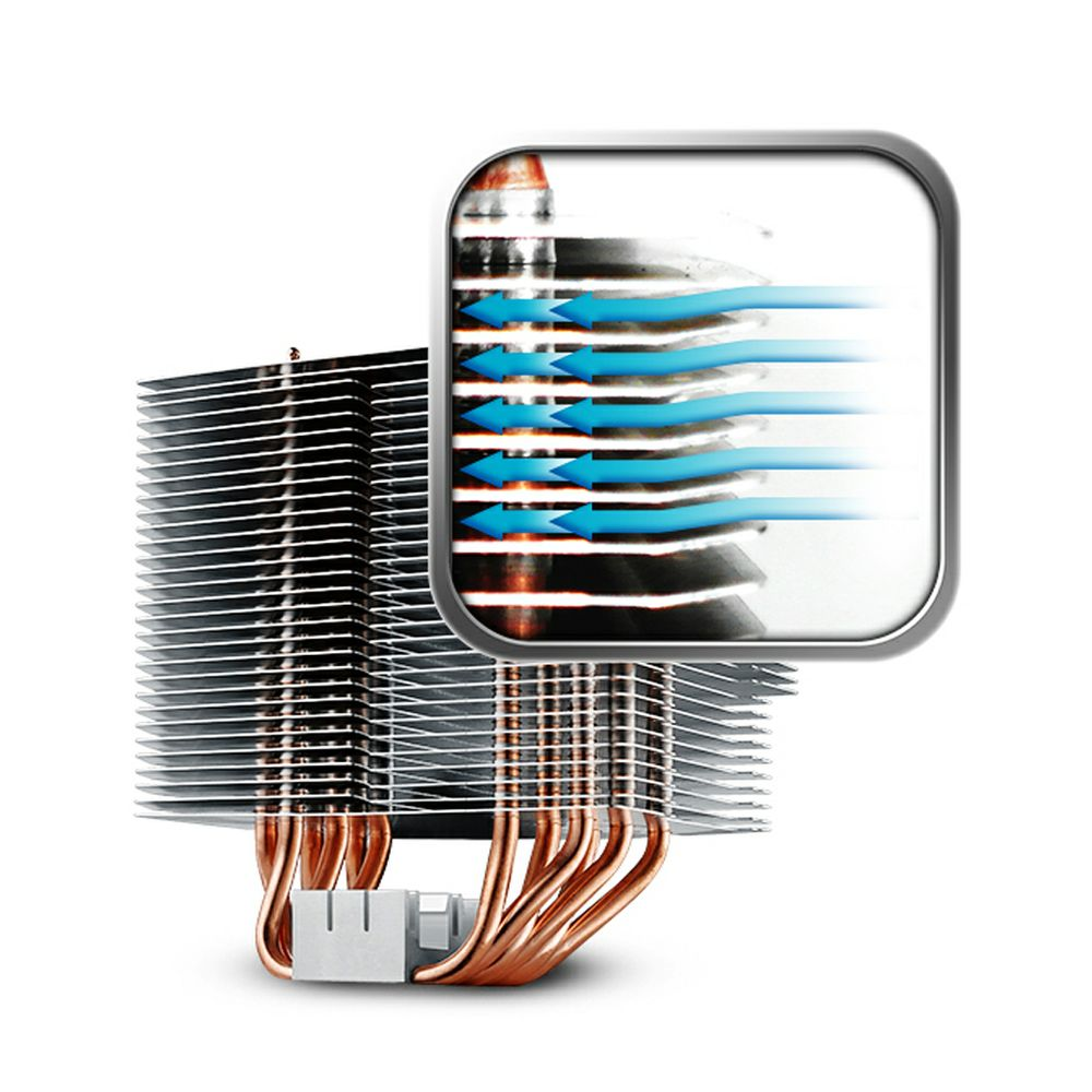 Cooler Master Hyper 612 Ver2 Silent Cpu Air With 6 Direct For Diagram Door Wiring Opener Pv Excellent Heat Distribution