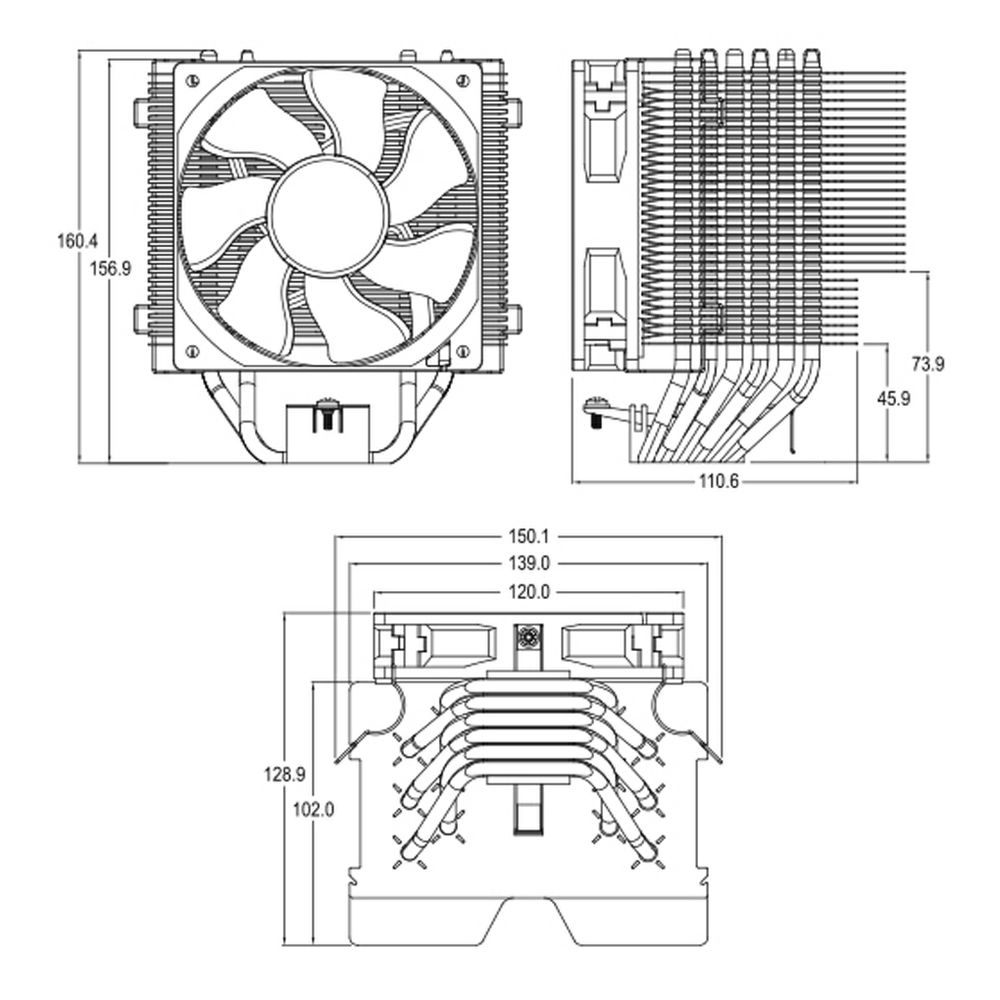 Cooler Master Hyper 612 Ver2 Silent Cpu Air With 6 Direct For Diagram Door Wiring Opener Pv Measurement