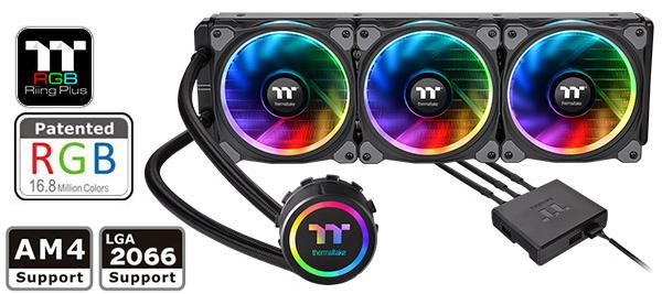 Thermaltake Floe AIO Triple Riing RGB 360 TT Premium Edition PWM TR4  LGA2066 Ready Liquid Cooling System CL-W158-PL12SW-A - Newegg com