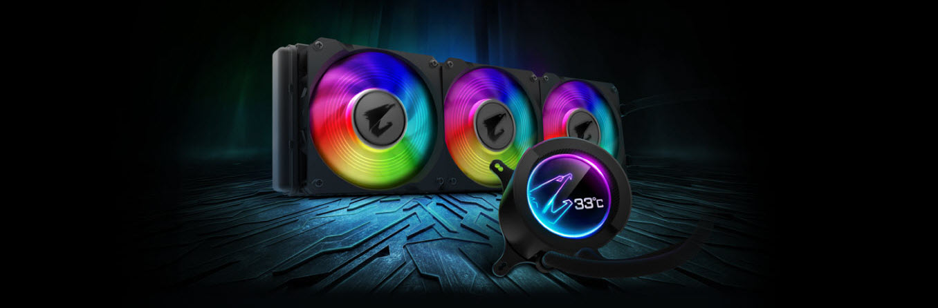the front view of AORUS Liquid Cooler 360