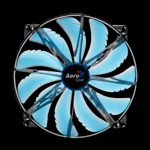 silent master 200mm blue led fan