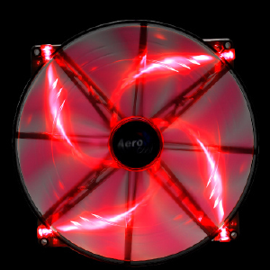 AeroCool Silent Master 200mm Red LED