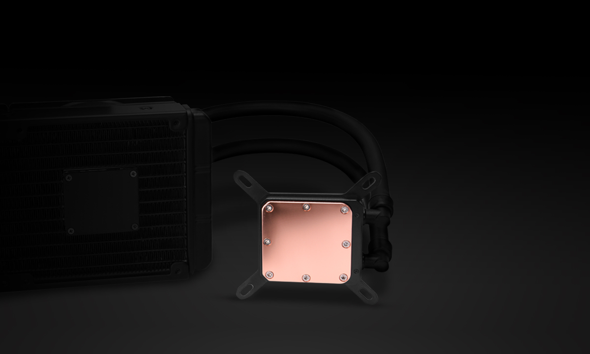Performance Copper Base Plate on the Rosewill Liquid CPU Cooler