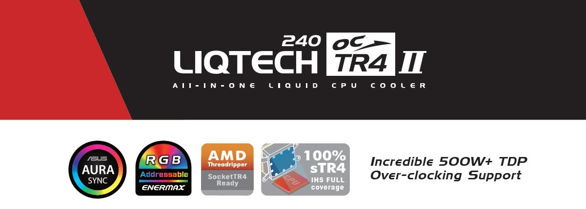 Enermax Liqtech TR4 II 240 Addressable RGB AIO Liquid CPU Coole, Support  500W+TDP, Overclocking, AMD Socket TR4 Ready, ELC-LTTR240-TBP - Newegg com