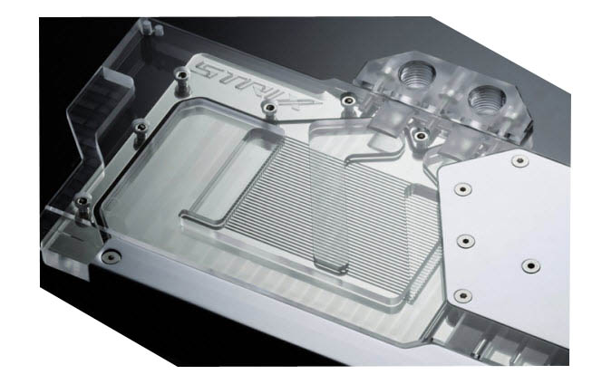 Phanteks Glacier Clear GPU Block Closeup