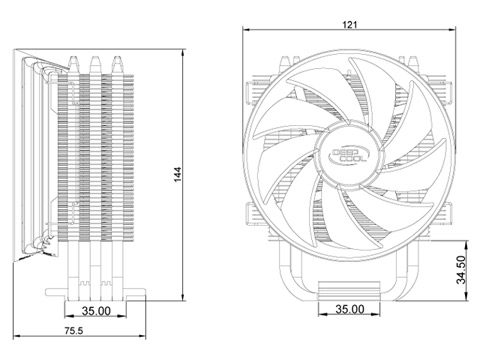 10 deepcool gammaxx 300 cpu cooler 3 heatpipes 120mm pwm fan newegg ca Ceiling Fan Wiring Diagram at gsmx.co