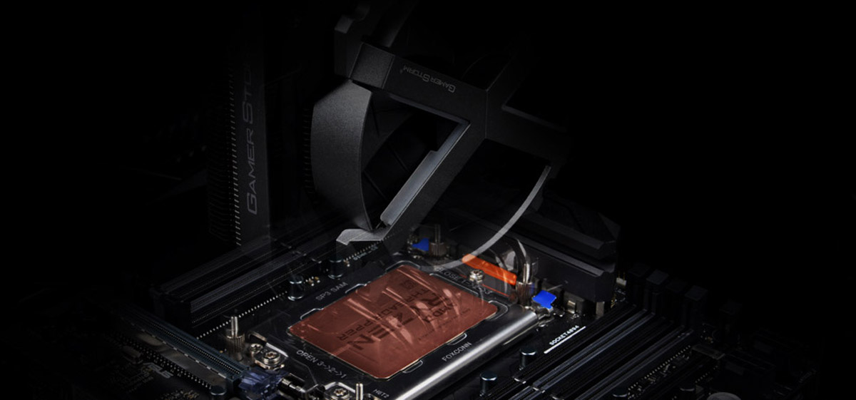 DEEPCOOL Fryzen TR4 Addressable RGB Motherboard Control 6 Boot-shaped  Heatpipes Metal Frame Fan 16 7 M True Color RGB Supports AMD TR4/AM4 -