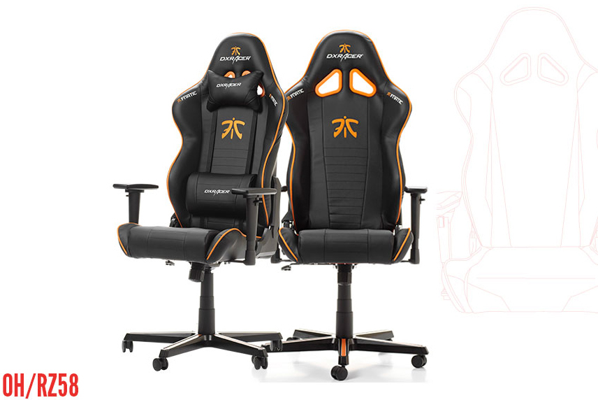 DXRacer OH/RZ58/N FNATIC Gaming Chair for Home or Office Newedge Edition  with Ergonomic Design, Bucket Seat, Lumbar Support - Newegg com
