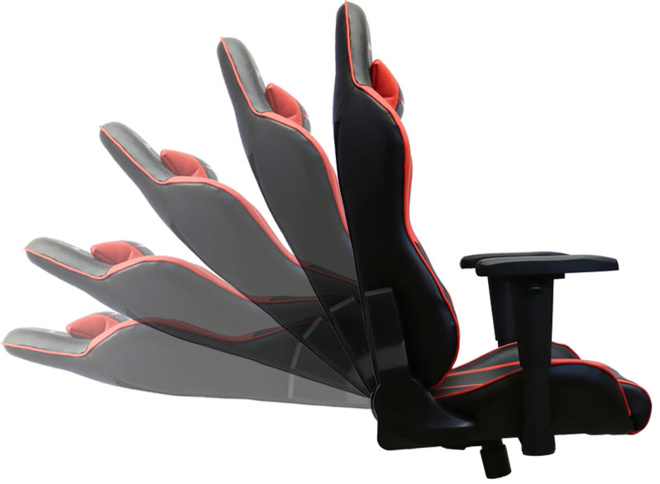 Pulselabz Challenger Series Gaming Chair Red Black