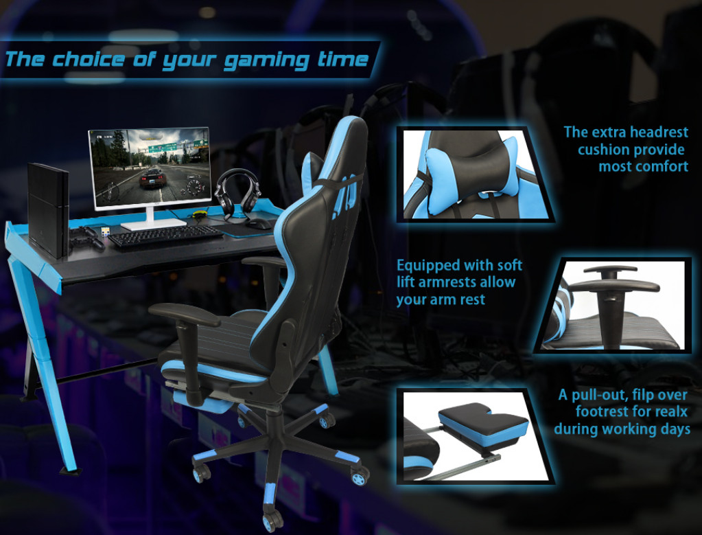 Furmax Computer Office Gaming Chair With High Back Ergonomic Snap Circuits Ac Battery Eliminator Neweggcom Racing Chairr