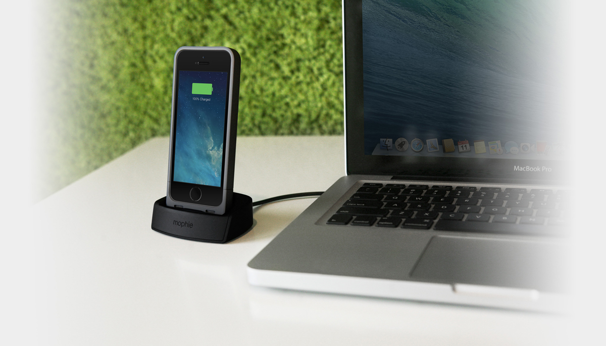 half off a4299 3e678 Mophie 2305 Juice Pack Dock for iPhone 5 / 5s / SE - Silver - Newegg.com