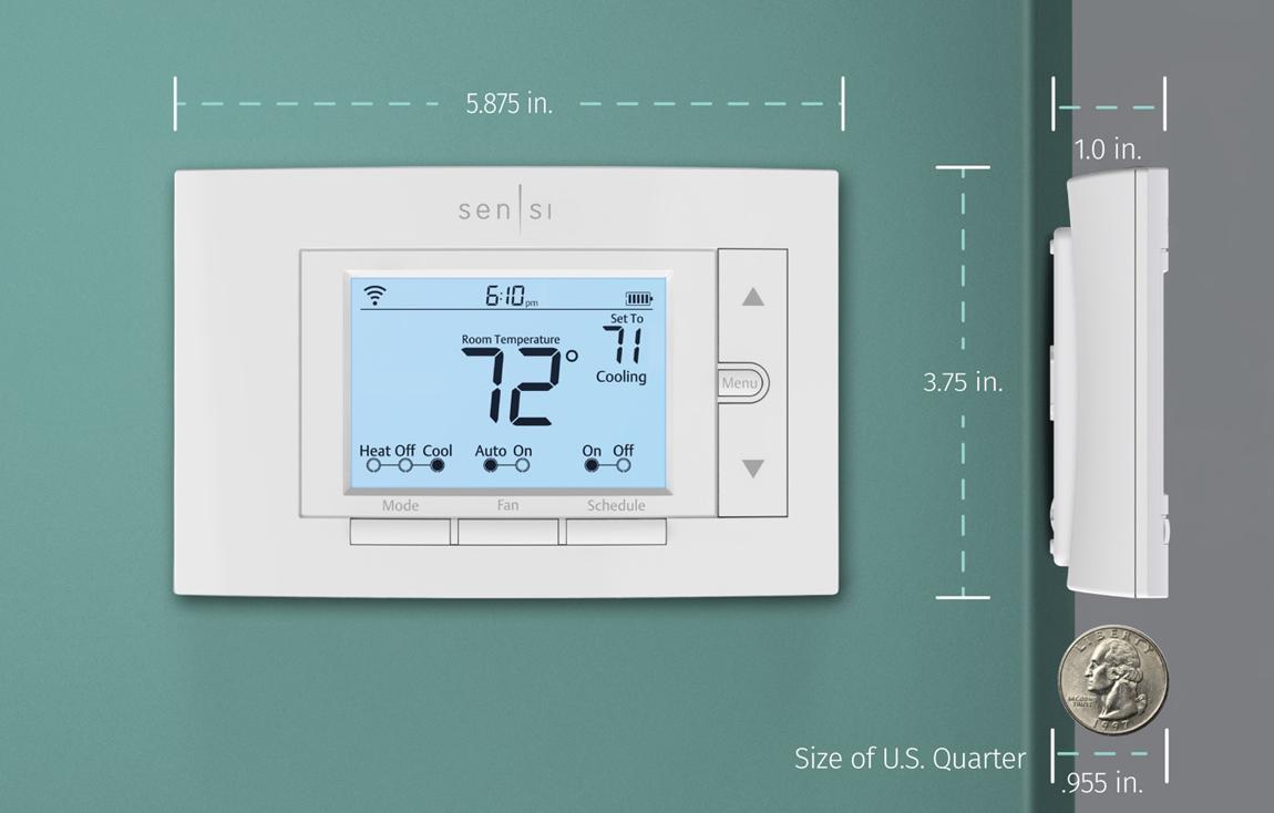 Emerson Sensi Wi-Fi Thermostat for Smart Home - Newegg com