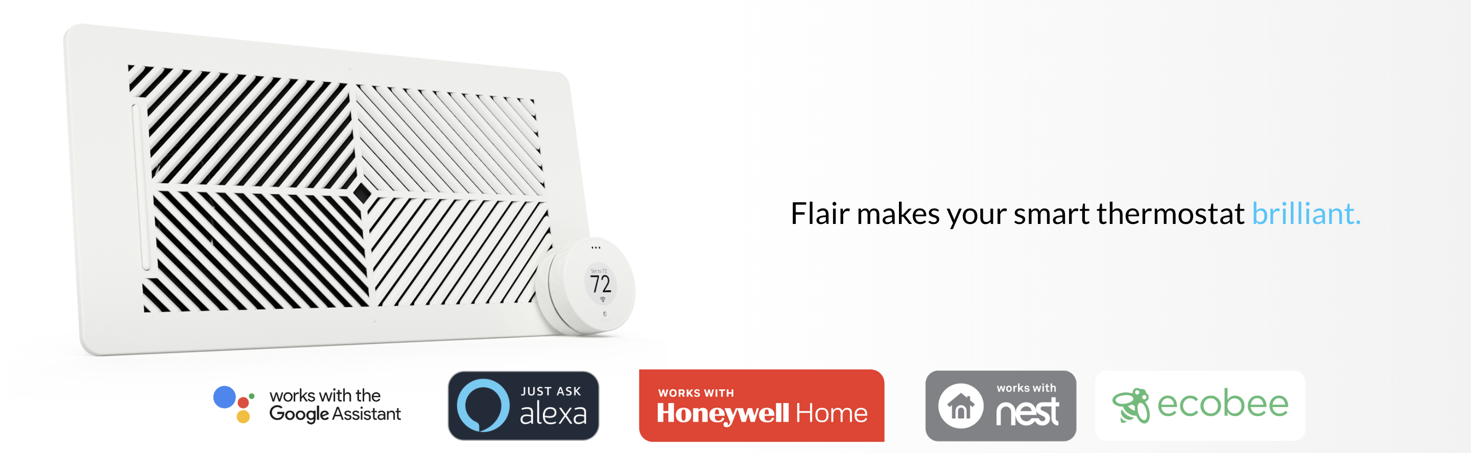 Flair Puck, WiFi Wireless Thermostat (Pearl White)  Controls Flair Smart  Vents  Compatible with Alexa, works with Nest, ecobee, Honeywell Lyric, and