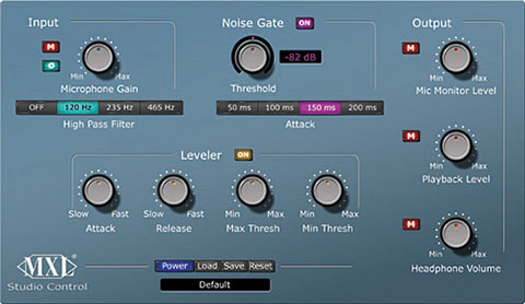 Studio Control Graphic User Interface (GUI)