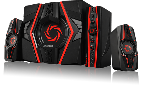 Avermedia Gs315 Dm 77w 2 1 Gaming Speakers Newegg Com
