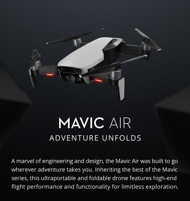 DJI MAVIC AIR Fly More Combo (NA) Portable Collapsible Quadcopter Drone,  3-Axis Gimbal with 4K, 32 MP Camera - Flame Red - Newegg com