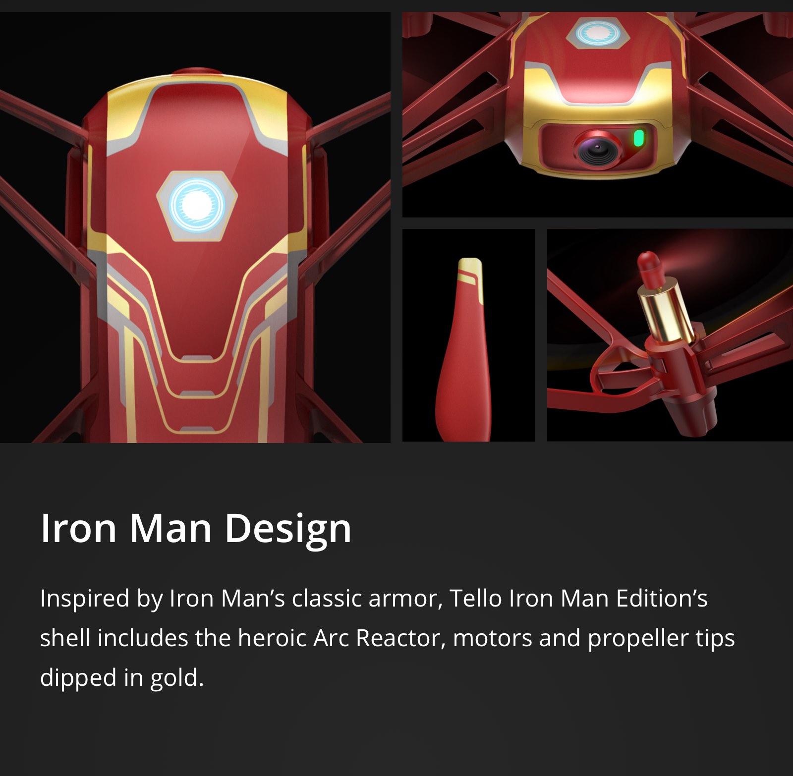 DJI Tello Iron Man Edition 720p Video Recording Drone Traditional Video  Camera by Ryze - Newegg com