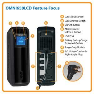 OMNI650LCD Feature Focus