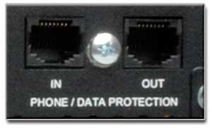 Tel/Ethernet Surge Suppression