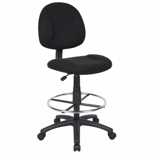 Boss Office Products B1615-BK Boss Drafting Stool with Footring