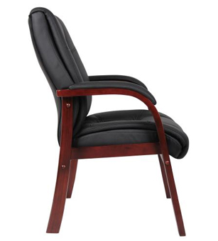 Boss Office Products B8999-M Boss Mid Back Wood Finished Guest Chairs