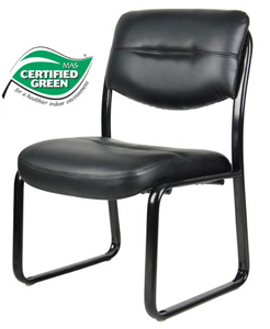 Boss Office Products B9539 Boss Leather Sled Base Side Chair